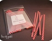 Twist Ties -- Red and White Pack of 50