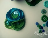 Butterfly Buttons,  Flower Hair clip for all ages