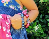 Pearl stretch braclets, for toddlers