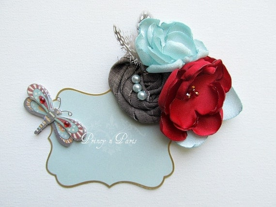 Peppermint chocolate, flower clip for all ages
