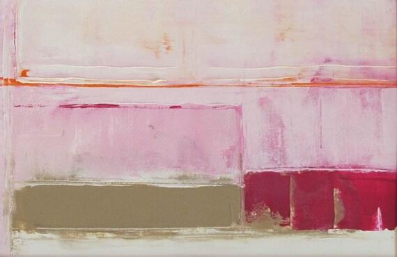 Original Abstract Acrylic Painting, on paper,fine art,tkafka,tracey kafka,Pink Series 19