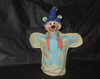 Vintage Hanna Barbera Ideal Mushmouse Hand Puppet Punkin Puss and Mush Mouse
