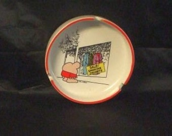 Vintage ZIGGY Stoneware Collectible Ashtray