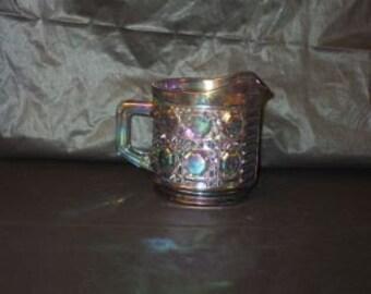 GORGEOUS Vintage Iridescent Carnival Glass Creamer