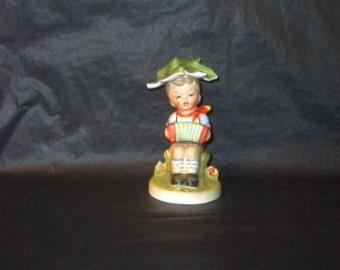 Vintage Japan LEGO Musician Boy Ceramic Figurine LOVELY