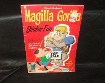 Vintage Whitmans Hanna Barbera MAGILLA GORILLA Punch Out Book