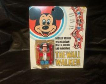 Vintage Kenner Disney Mickey Mouse Wall Walker In Original Package