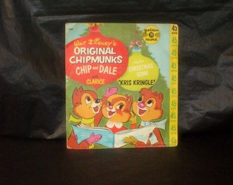 Vintage Disney Original CHIPMUNKS with Clarice Record