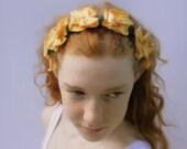 Eco Friendly Hair Garland Head Band Recycled Tshirts Yellow