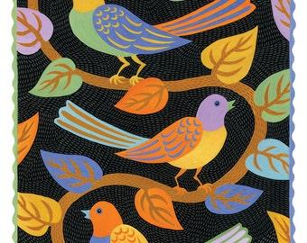 Birds and Vine Card