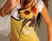 Sunflower t shirt yellow woman top