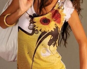 Sunflower t shirt yellow woman top