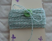 BAKERS TWINE, 25 YARDS, TWINE, STRING, Yarn, Mint Green, Brought To You By THE QUEENS CHIFFOROBE