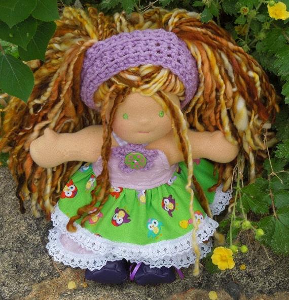 "Tatya - a 10"" Waldorf Style Doll (Reserved for Lin Morgan)"