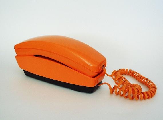 Orange AE GTE Styleline Touch Tone Phone 1978
