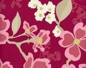 Joel Dewberry - Modern Meadow - Dogwood Bloom in Berry - 1 yard