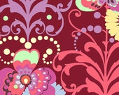 Amy Butler - LOVE - Paradise Garden in Wine - Fat Quarter FQ