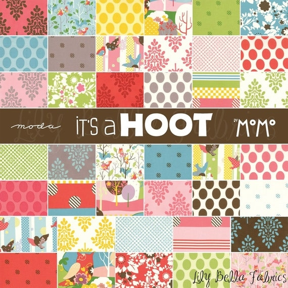 Momo for Moda - IT'S A HOOT - Layer Cake - 10 inch Quilting Fabric Squares