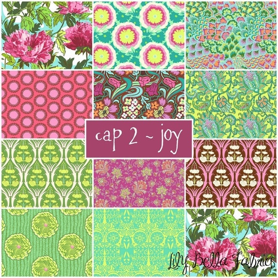 Amy Butler - Soul Blossoms - Cap 2 Joy - 11 Fat Quarter FQ Bundle