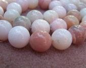Pink Opal round beads 12mm half strand 17 pcs - 5315