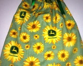 John Deere and Sunflowers Pillowcase Dress Ready to Ship