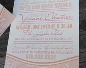 Sample of Hand Drawn Floral Invite
