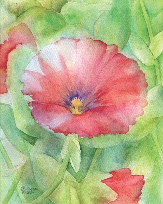 SALE Hibiscus Watercolor Print