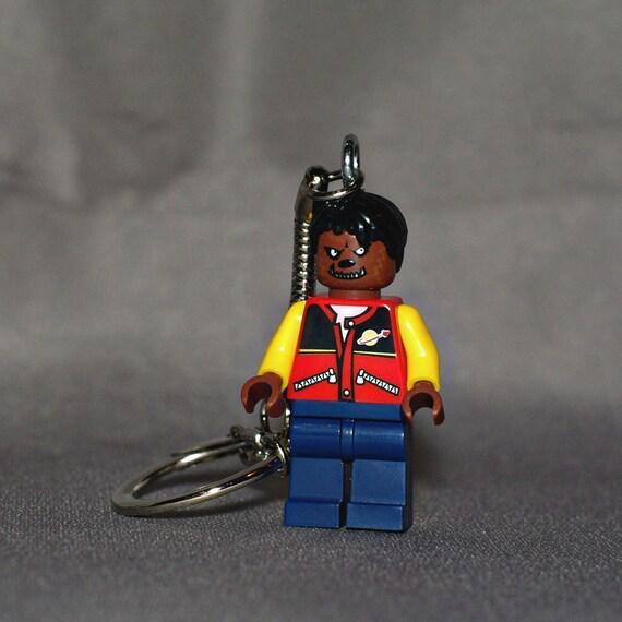 Michael Jackson Thriller LEGO key chain