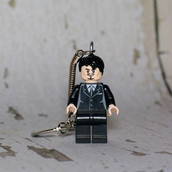 Tony Stark LEGO key chain