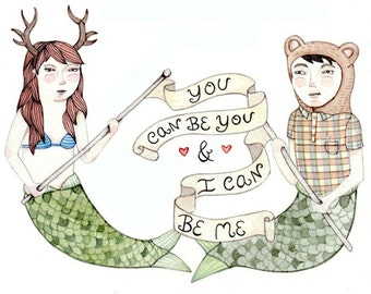 You Can Be You- Love -Wedding Card