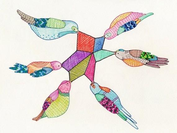 Pretty Birds Print 5x7