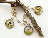 Hand Painted Charm Bracelet, Original MiniaturePainting, Woodland set