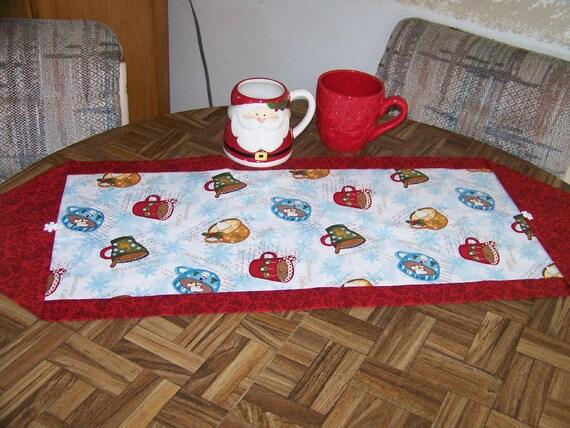 Hot Cocoa Table runner/ topper
