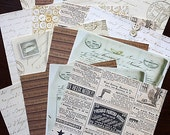 """SALE: 6""""x6"""" Antique Style Decorative Papers for Scrapbooking, Card Making and Paper Crafts"""