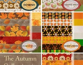 "Autumn Collection Digital Scrapbook Paper  --60-- 12""x12"" Digital Papers"