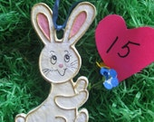 Paper Mache' Easter Rabbit Ornament