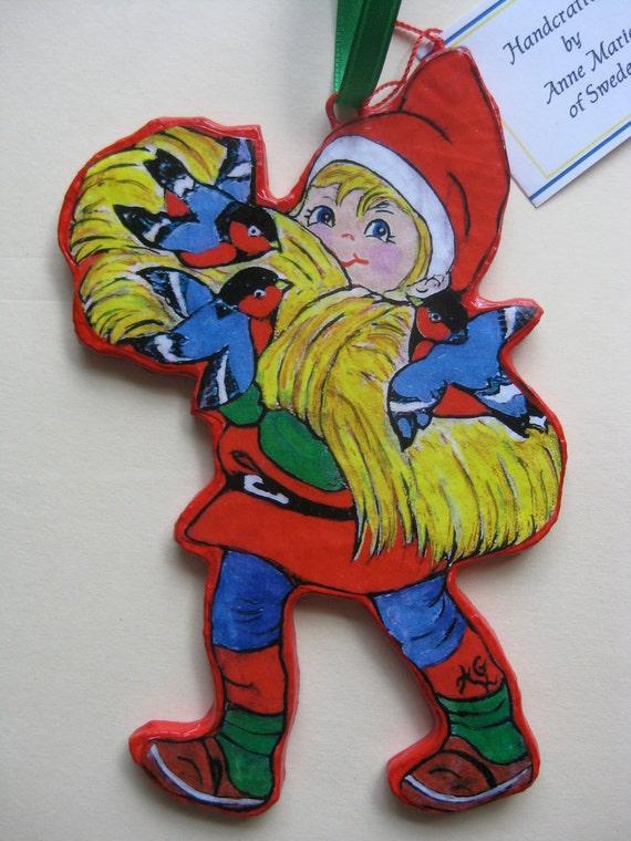 Santa boy ornament