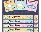 CUTE AND ADORABLE PREMADE BANNER CAR AND AEROPLANE (11 SET)