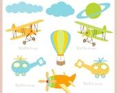 Fly High Digital Clipart  Set
