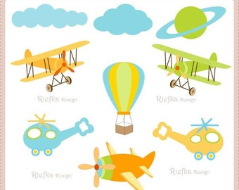 Fly High Digital Clipart  Set