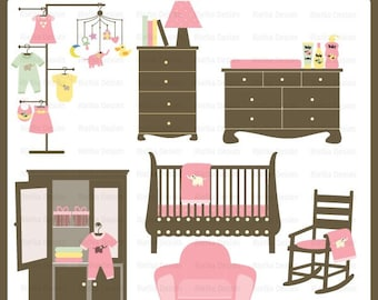 Baby Nursery Set Clipart