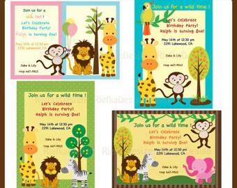 Jungle Animal Party Invitation