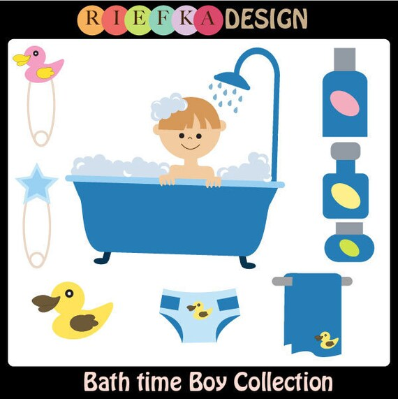 852 Bathtub Data Base Emails Contact Us Hk Mail: Items Similar To Bath Time Boy Collection Clipart On Etsy