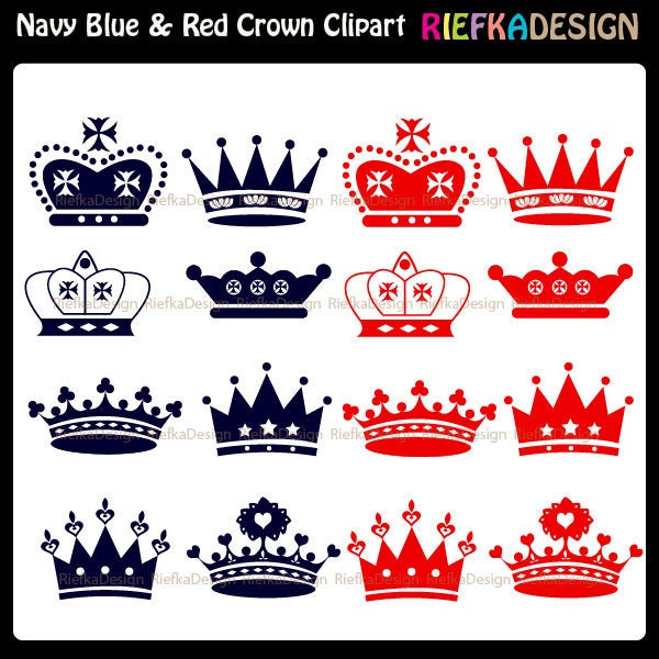 Diva Crown Clipart Il fullxfull 260474032 jpgRed Queen Crown Clip Art