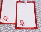 Snowman Printable Gift Tag