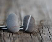 2 Stone hair pins