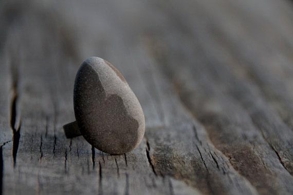 Pebble adjustable ring / rock ring / stone ring