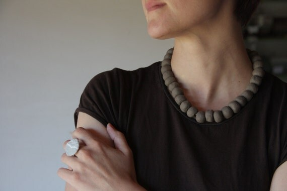 Reserved - Simple pleasures - ceramic beaded necklace