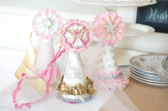 Vintage Inspired Birthday Hat, Photography Prop, Tea Party