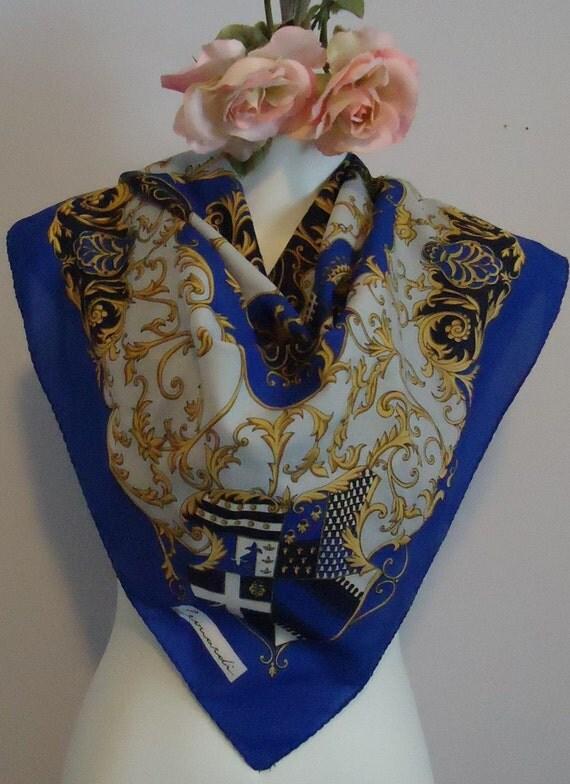 vintage leonardi silk scarf